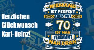 Karl-Heinz Langer, 70zigster Geburtstag